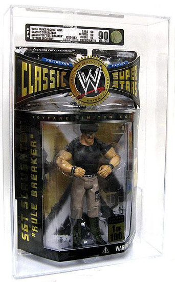 """WWE Wrestling Classic Superstars Exclusives Sgt Slaughter """"Rule Breaker"""" Exclusive Action Figure [AFA 90] [AFA Graded 90]"""