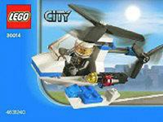 LEGO City Police Helicopter Mini Set #30014 [Bagged]
