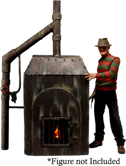 NECA Nightmare on Elm Street Freddy's Furnace 9-Inch Diorama [Figure NOT Included - Shown for Scale]