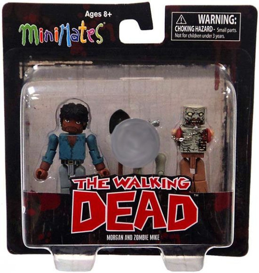 The Walking Dead Minimates Exclusives Morgan & Zombie Mike Exclusive Minifigure 2-Pack