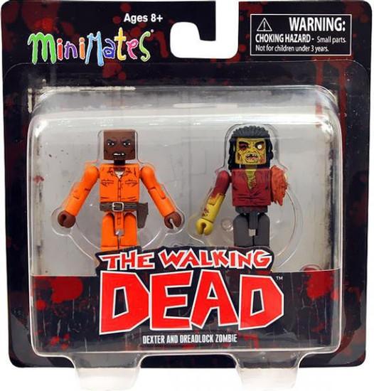 The Walking Dead Minimates Series 3 Dexter & Dreadlock Zombie Minifigure 2-Pack