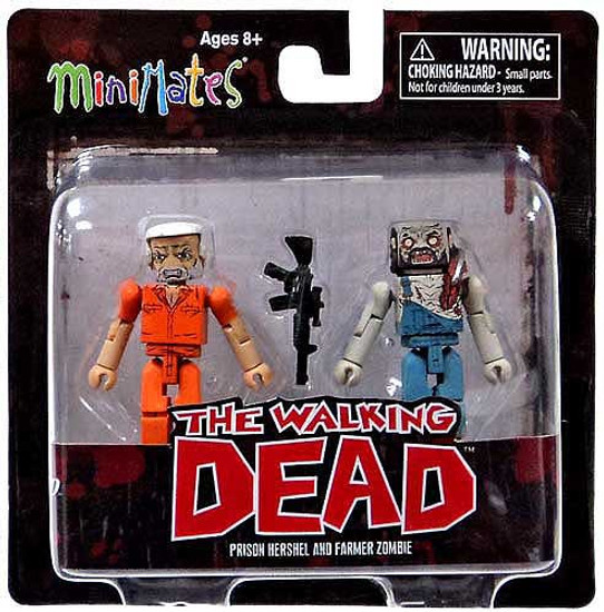 The Walking Dead Minimates Series 3 Prison Hershel & Farmer Zombie Minifigure 2-Pack