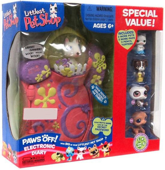 Littlest Pet Shop Paws Off Electronic Diary Exclusive