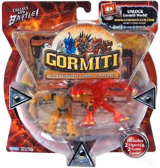 Gormiti Series 1 Blind Fury & Thoughtcatcher Mini Figure 2-Pack
