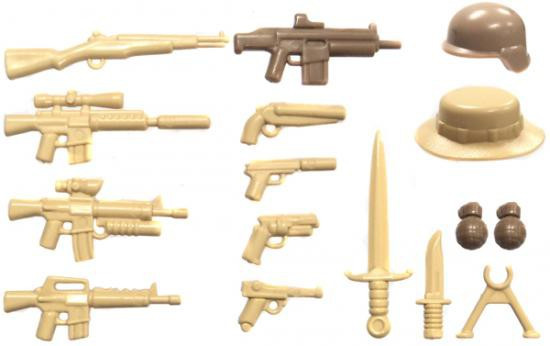 BrickArms Desert Storm 2.5-Inch Weapons Pack
