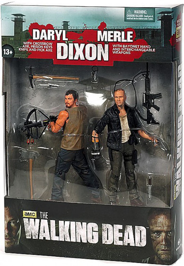 McFarlane Toys The Walking Dead AMC TV Series 4 Dixon Brothers Action Figure 2-Pack