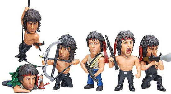 Rambo First Blood Series 1 Set of 6 Mini Figures