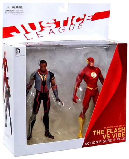 DC Justice League The New 52 The Flash vs. Vibe Action Figure 2-Pack