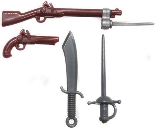 BrickArms Flintlock Musket Battle Kit Exclusive 2.5-Inch Weapons Pack