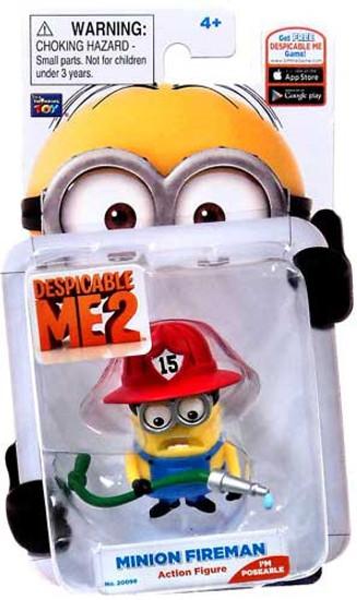 Despicable Me 2 Minion Fireman Action Figure