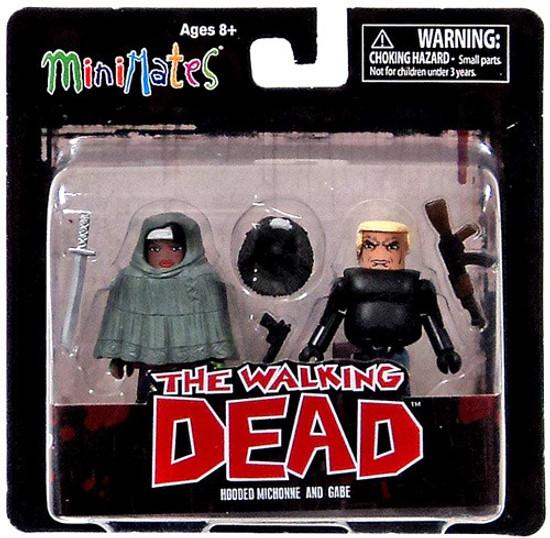 The Walking Dead Minimates Series 4 Michonne [Poncho] & Gabe Minifigure 2-Pack