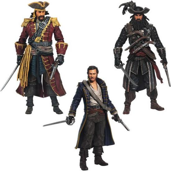McFarlane Toys Assassin's Creed IV Black Flag Golden Age of Piracy Action Figure 3-Pack [Black Bart, Blackbeard & Hornigold]