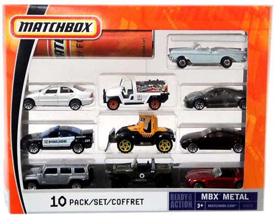Matchbox Ready for Action MBX Metal Diecast Vehicle 10-Pack [B5610]