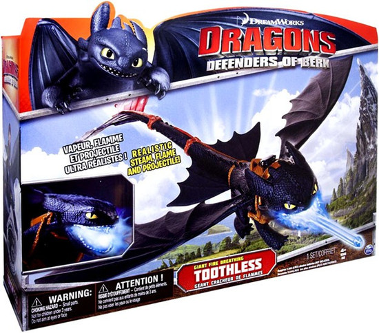 How to Train Your Dragon Dragons Defenders of Berk Toothless Figure [Giant Fire Breathing]