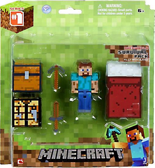 Minecraft Series 1 Survival Pack Action Figure Set [Overworld]
