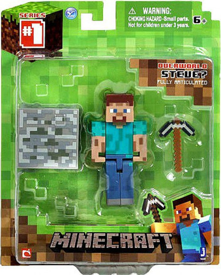 Minecraft Series 1 Steve Action Figure [Overworld]