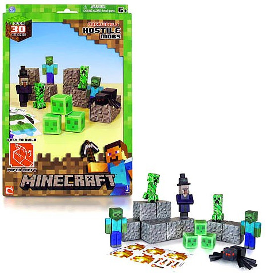 Minecraft Hostile Mobs Papercraft