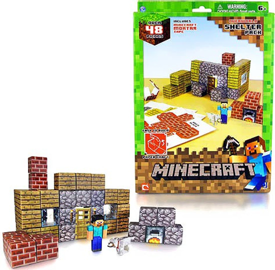 Minecraft Shelter Set Papercraft