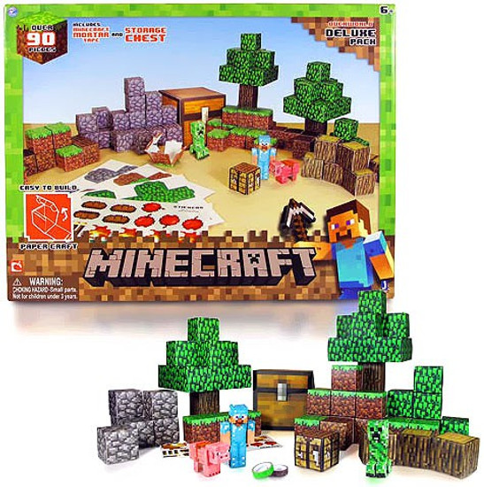 Minecraft Overworld Deluxe Set Papercraft
