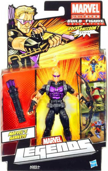 Marvel Legends 2013 Rocket Raccoon Series 2 Hawkeye Action Figure [Modern Costume]