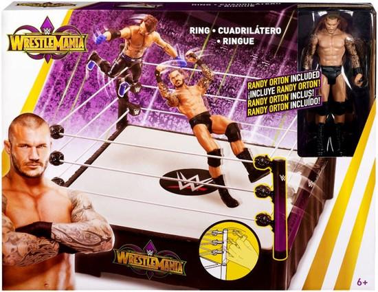 WWE Wrestling WrestleMania 34 Ring Playset [Randy Orton Action Figure]