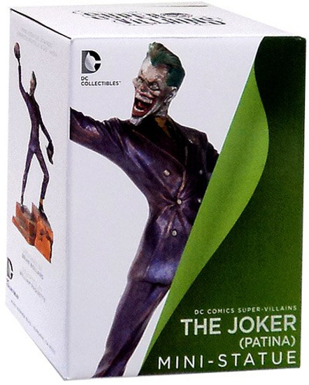 DC Super Villains The Joker Patina Mini Statue
