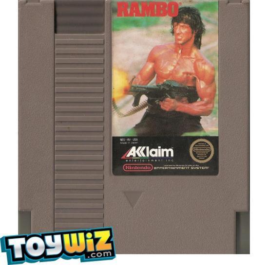 Nintendo NES Rambo Video Game Cartridge [Played Condition]