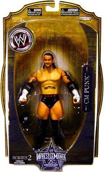 WWE Wrestling WrestleMania 25 Series 2 CM Punk Action Figure