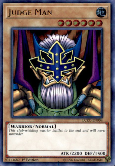YuGiOh Kaiba Legendary Collection Ultra Rare Judge Man LCKC-EN004