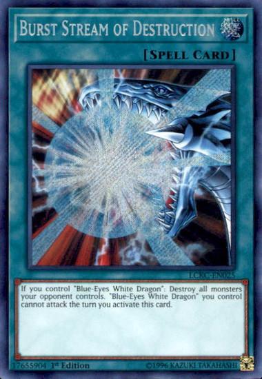 YuGiOh Kaiba Legendary Collection Secret Rare Burst Stream of Destruction LCKC-EN025