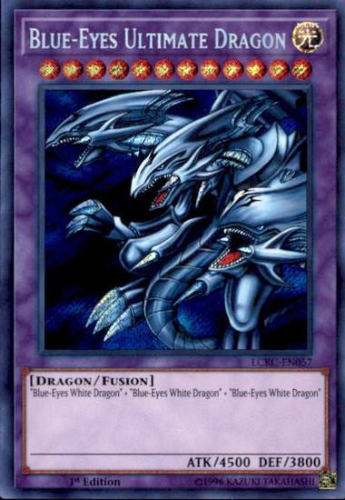 YuGiOh Kaiba Legendary Collection Secret Rare Blue-Eyes Ultimate Dragon LCKC-EN057