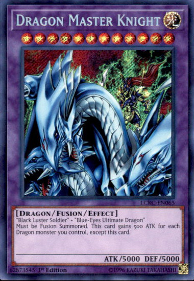 YuGiOh Kaiba Legendary Collection Secret Rare Dragon Master Knight LCKC-EN065