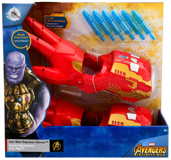 Disney Marvel Avengers Infinity War Iron Man Repulsor Gloves Exclusive Roleplay Toy [2018]