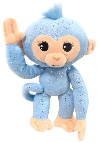 Fingerlings Glitter Monkey Light Blue 10-Inch Plush with Sound