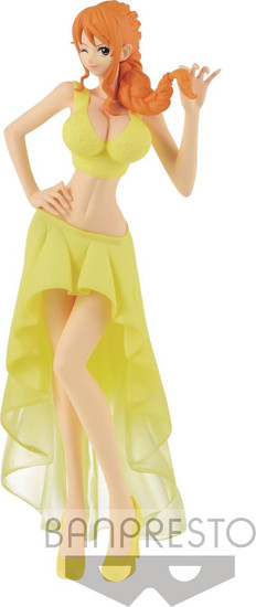 One Piece Lady Edge: Wedding Nami 9.1-Inch Collectible PVC Figure [Yellow Dress]