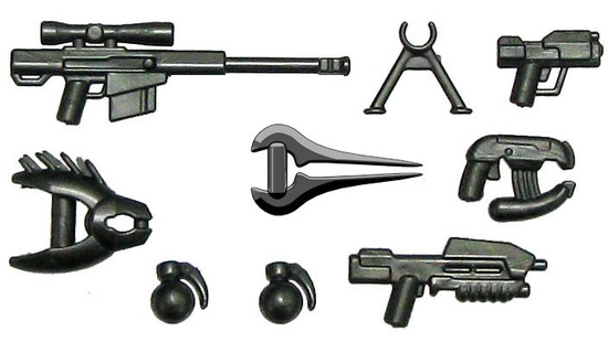 BrickArms HALO Style 2.5-Inch Weapons Pack