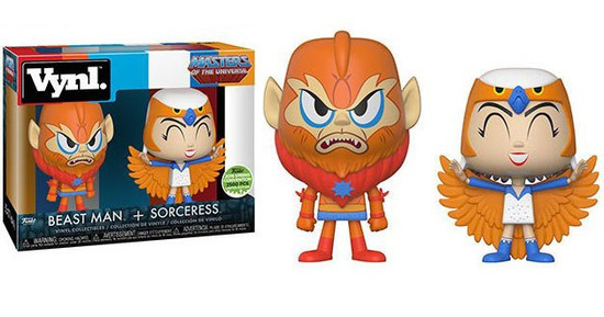 Funko Masters of the Universe Vynl. Beast Man & Sorceress Exclusive Vinyl Figure 2-Pack