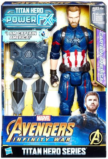Marvel Avengers Infinity War Titan Hero Series Power FX Captain America Action Figure