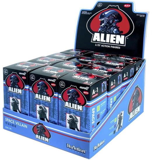ReAction Alien Series 1 Xenomorph 3.75-Inch Mystery Box [12 Packs]