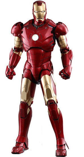 Marvel Movie Masterpiece Diecast Iron Man Mark III Collectible Figure [Deluxe Version]