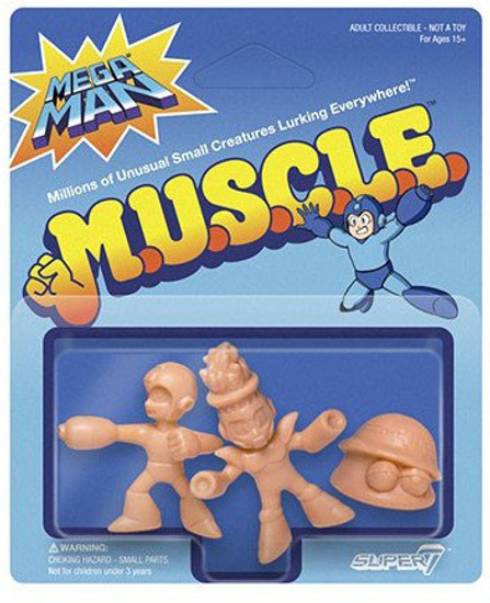 M.U.S.C.L.E. Pack B - Mega Man (Firing), Fire Man, Metall 1.75-Inch 3-Pack