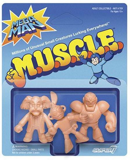 M.U.S.C.L.E. Mega Man Pack C - Doctor Wily, Cut Man, Guts Man 1.75-Inch 3-Pack