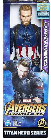 Marvel Avengers Infinity War Titan Hero Series Captain America Action Figure [2018]