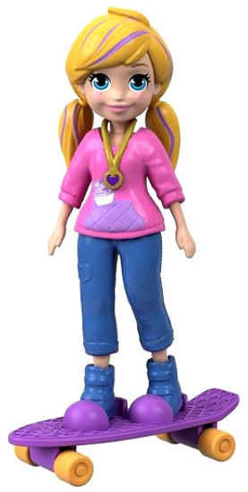 Polly Pocket Skate Rockin' Polly 3.75-Inch Mini Figure