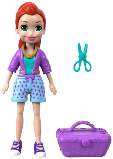 Polly Pocket Totes Cute Lila 3.75-Inch Mini Figure