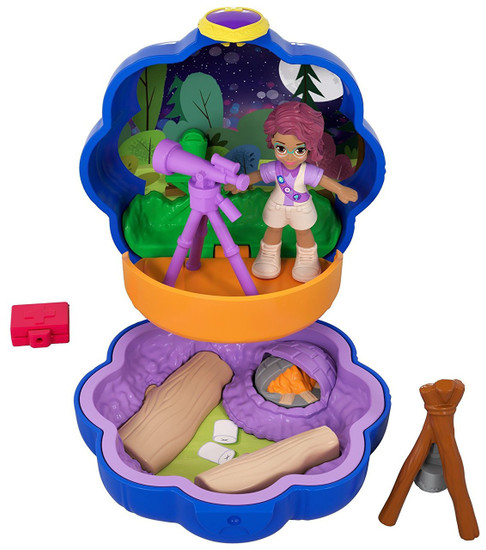Polly Pocket Tiny World Camping with Shani Playset [World 5]