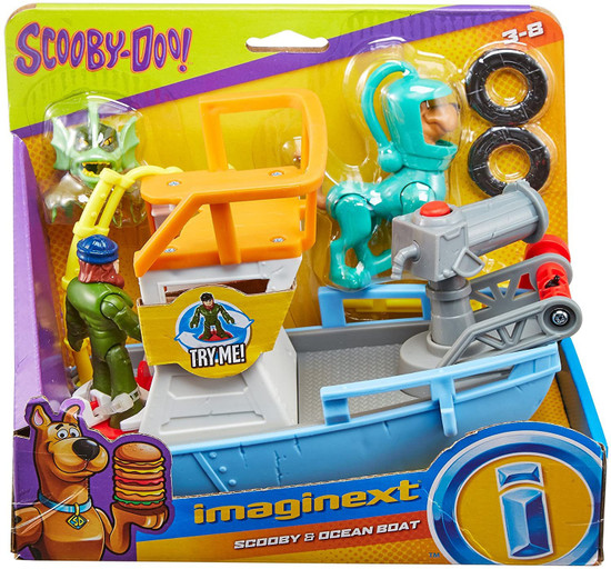 Fisher Price Scooby Doo Imaginext Scooby & Ocean Boat 3-Inch Figure Set