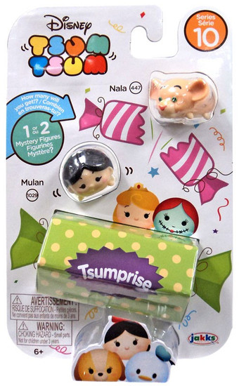 Disney Tsum Tsum Series 10 Nala & Mulan 1-Inch Minifigure 3-Pack #447 & 1029
