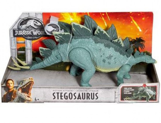 Jurassic World Fallen Kingdom Action Attack Stegosaurus Action Figure