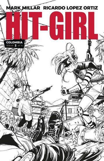 Image Comics Hit-Girl #2 Comic Book [Black & White Variant Cover]